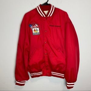 Vintage Red CORVETTE Club NW Baseball Jacket